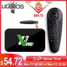 Ugoos X3プロ4ギガバイトのram 32ギガバイトDDR4 amlogic S905X3スマートテレビボックスアンドロイド9.0デュアル無線lan 1000メートル4 18k X3キューブ2グラム16グラムX3プラス64セットトップボックス
