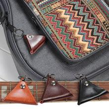 None Quality Guitar Pick Leather Holder Electric Picks Pack Guitarra Plectrum Case Bag Keychain Shape Accessories