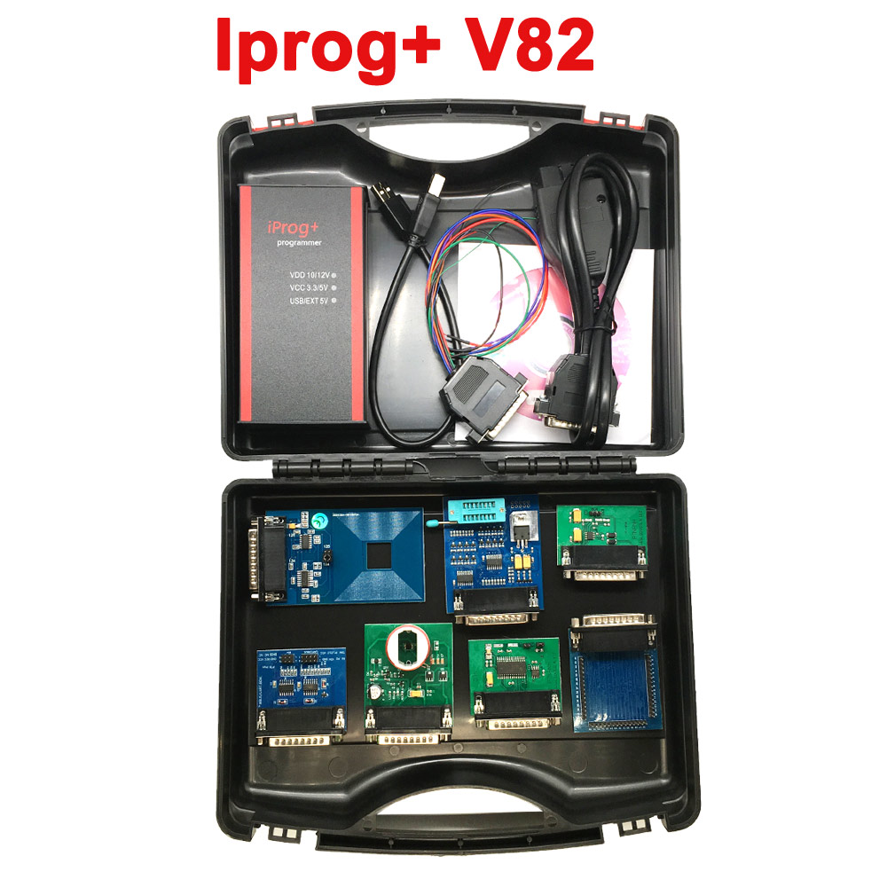 2019 V82 V80 Iprog+ Programmer Multi-function Diagnostic & Programming Tool Mileage Correction + Airbag Reset +IMMO+EEPROM