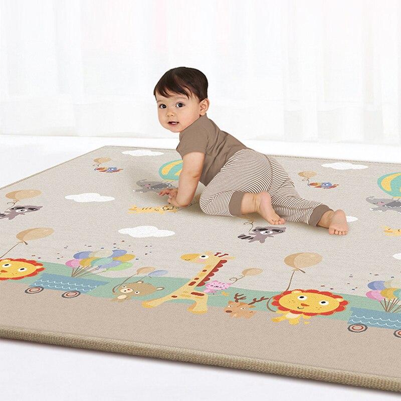 180*200CM bébé ramper tapis épaississement Protection de l'environnement tapis inodore étanche à l'humidité jeu couverture incassable coussin