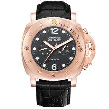 KIMSDUN Top Brand Luxury Men's Watch Relogio masculino Leather Strap Two-Eye Big Dial Luminous Automatic Mechanical Watch Men все цены