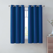 42-52 Inch Polyester Blackout Curtain Sets European Solid Matte Living Room Bedroom Modern Simple Home Decorations
