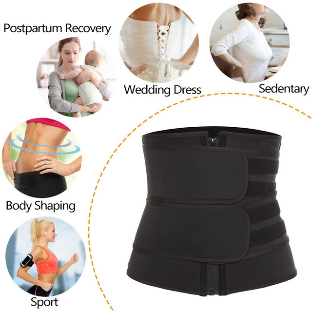 Waist Trainer Sweat Slimming Belt Women Waist Trimmer Tummy Control Butt Lifter Weight Loss Shapewear Body Shaper Corset 4