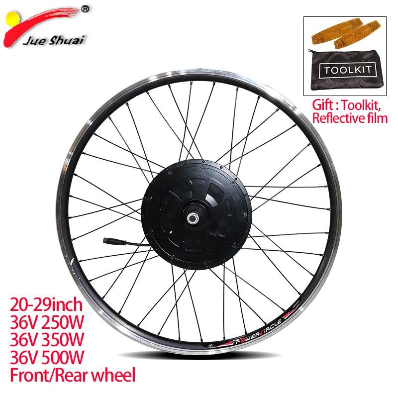 Electric bike wheel 36V 250W 350W 500W 20 24 26 29inch 700C EBike Front Rear Motor Wheel Brushless gear motor wheel for ebike