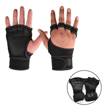 Weight Lifting Training Gloves for Women Men Fitness Sports Body Building Gymnastics Grips Gym Hand Palm Wrist Protector Gloves 4