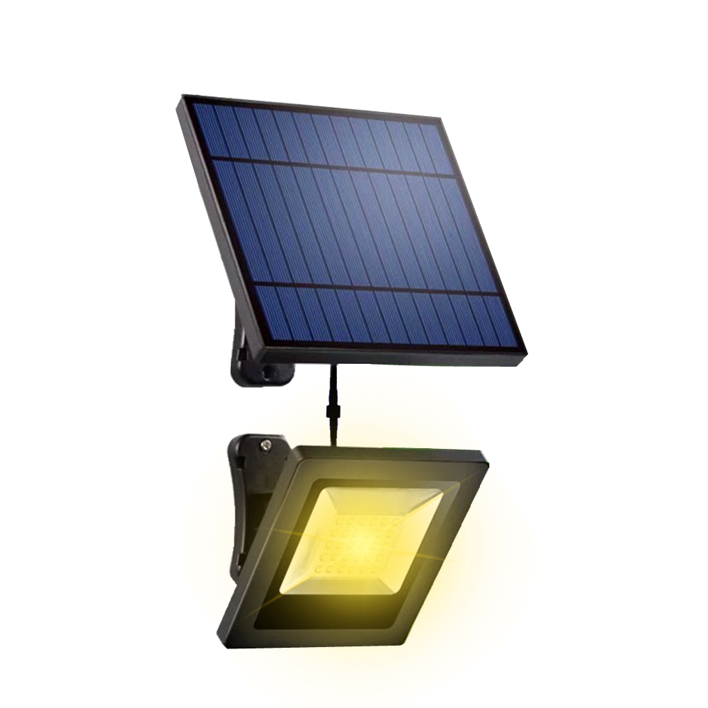 Outdoor Indoor Solar Light LED With Separable Solar Panel 16FT Cord Floodlight Solar Lamp Garden Wall Underground Solar Lighting