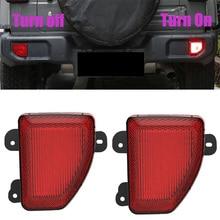цена на For Wrangler JL Rear Bumper LED Brake Warn Light Lamp For Jeep Wrangler JL 2018 2019 2020 Tail Fog Parking Parking Reverse Lamp