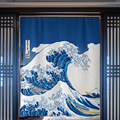 Японская дверь Ukiyo-e  занавес  крепление Fuji  перегородка  занавеска для кухни  спальни  туалета  половина занавески  фэн-шуй  занавеска  Норен