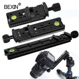 Image 1 - Slide Rail RRS long Quick Release plate Clamp Long focus Zoom Lens Support Holder Bracket for Arca swiss Tripod camera ball head
