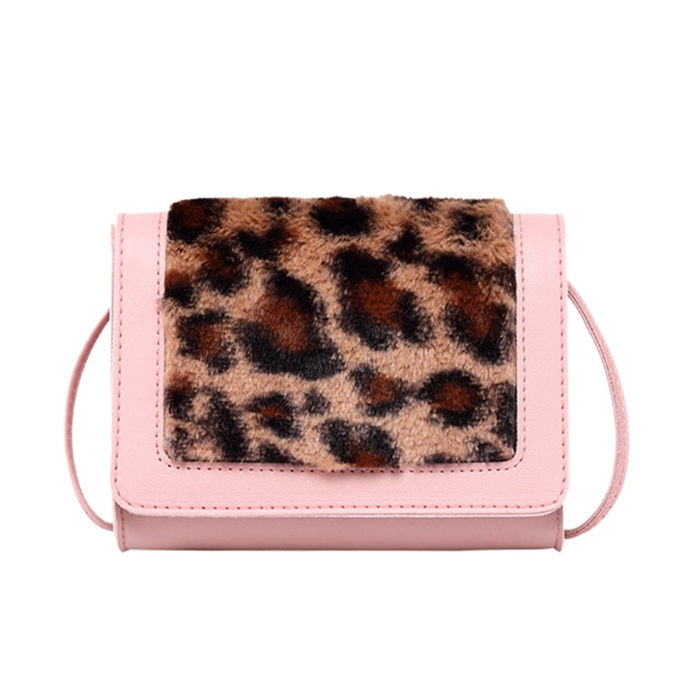 Women Bags Mini New Fashion Plush Bag 2019 Leopard Shoulder Messenger Bag Small Square Bag bolsa feminina (43)