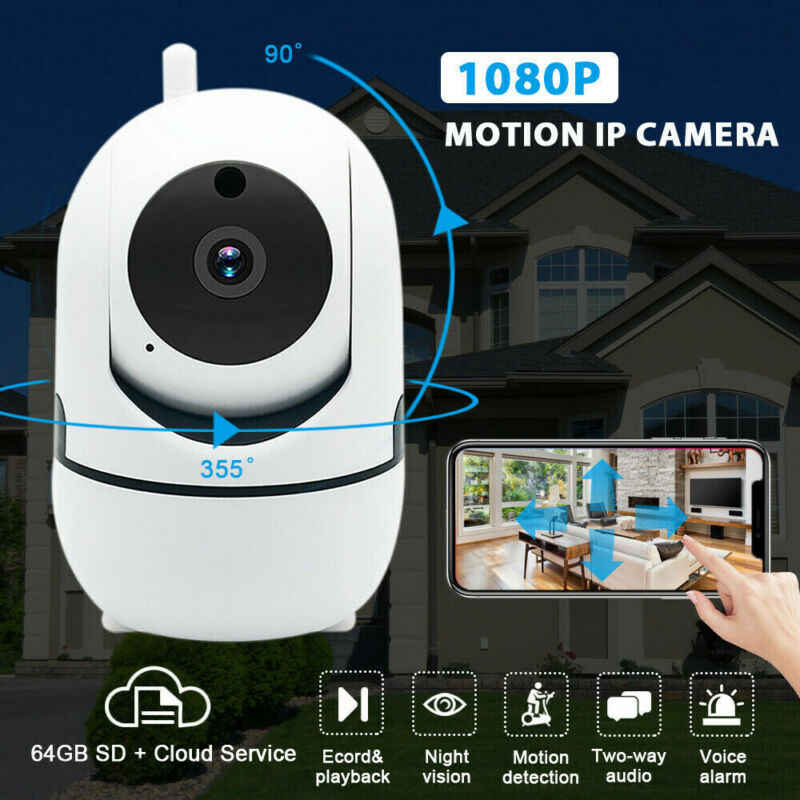 1080P WiFi IP Camera Network IR-Cut Pan Tilt Night Vision CCTV Pet Baby Monitor