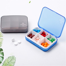 1Pc Pill Box Portable 6 Cells Travel Damp-proof Medicine Drug Storage Case Container 4