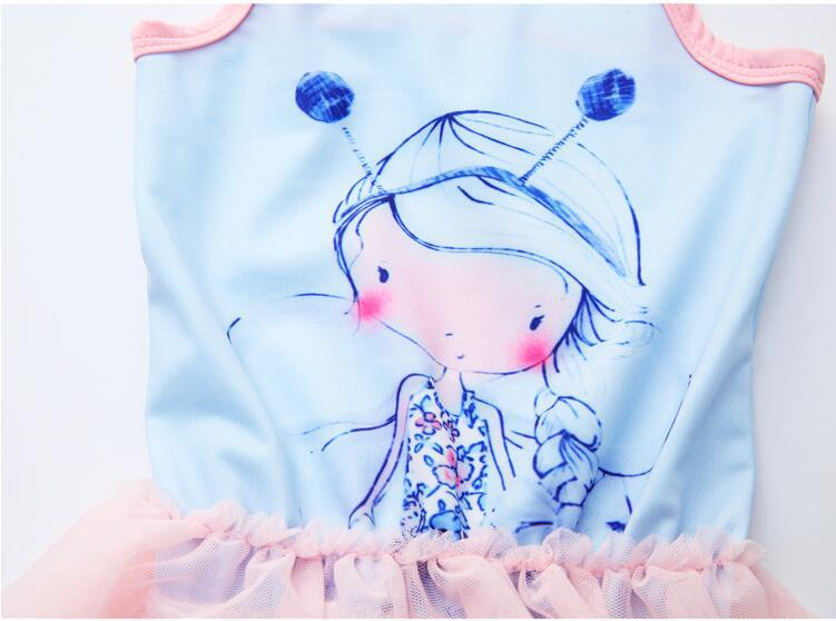 Hot Selling 2019 Summer GIRL'S Swimsuit Children Sun-resistant Sleeveless Cartoon One-piece Romper Pants Swimwear Pure Cotton