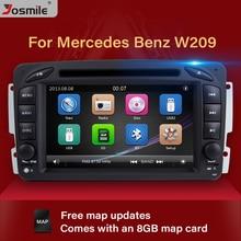 цены Josmile 2 Din Car DVD Player For W203 Mercedes Benz Vito W639 W168 Vaneo Clk W209 W210 M/ML Multimedia Radio Audio Navigation