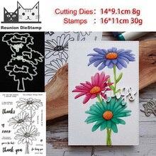 Cutting-Dies Stamps-Craft Scrapbooking Fresh-Flowers Metal Die-Cuts Embossing Reunion