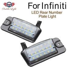 цена на 2Pcs Led License Number Plate Lights For Infiniti EX25 EX35 EX37 QZ50 FX35 FX37 FX50 QX70 Nissan Altima Pathfinder Murano Rogue