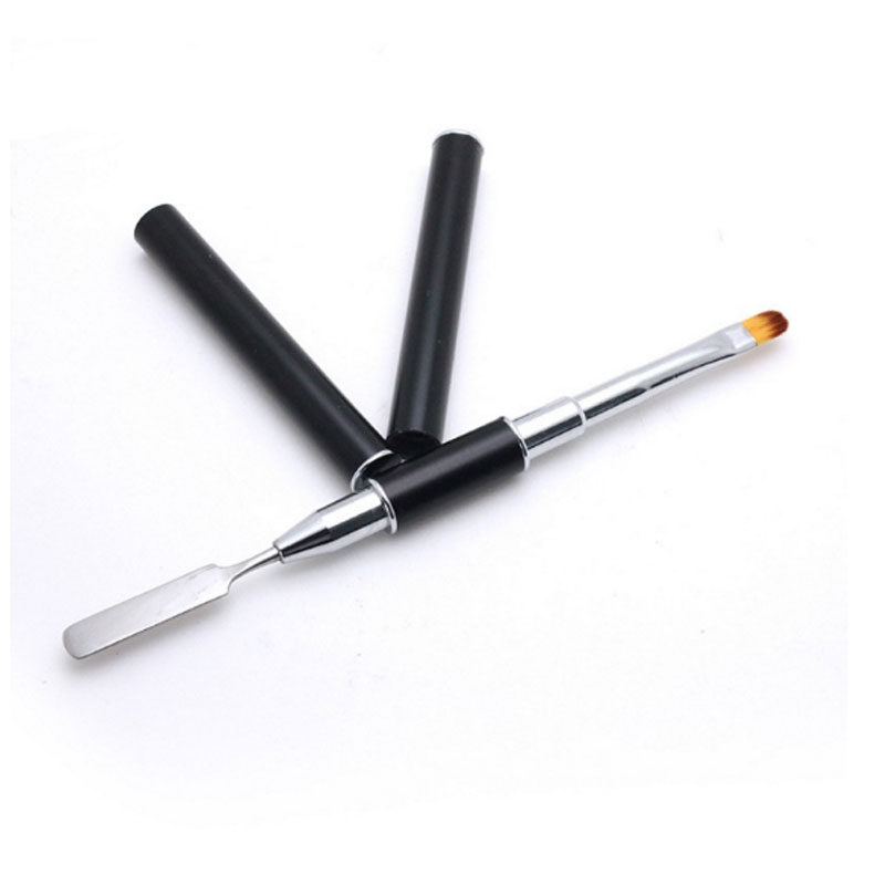 1pcs Double Ways Nail Brush Poly Gel Pen Manicure Tip Extension Acrylic Builder Accessory Polygel Rod Tool New Design