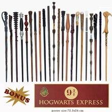 Metal núcleo harried cerâmica varinhas mágicas cosplay hermione ron lucius dumbledore varinha hogwart plataforma 9 3/4 poster como presente sem caixa