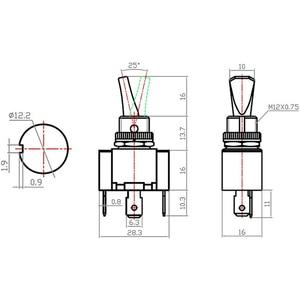 30A 12VDC светодиодный рычажный переключатель автомобильной SPST вкл/выкл 2 Позиции 3Pin для автомобилей Грузовик Лодка ATV для автомобильной