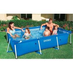 Quadro de metal tubo de aço retangular quadrado piscina conjunto tubulação rack lagoa grande suporte acima do filtro à terra verão jogar piscina