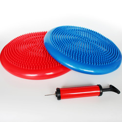 Коврик для йоги надувная подушка для массажа баланс диск толстый взрывобезопасный баланс для йоги баланс мяча тренировочное устройство