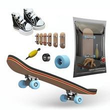 1 шт. tech деревянный гриф наборы палуба мини палец доска обувь; Обувь для скейтборда кроссовки с Подшипники Скейт игрушки для детей, подарки д...