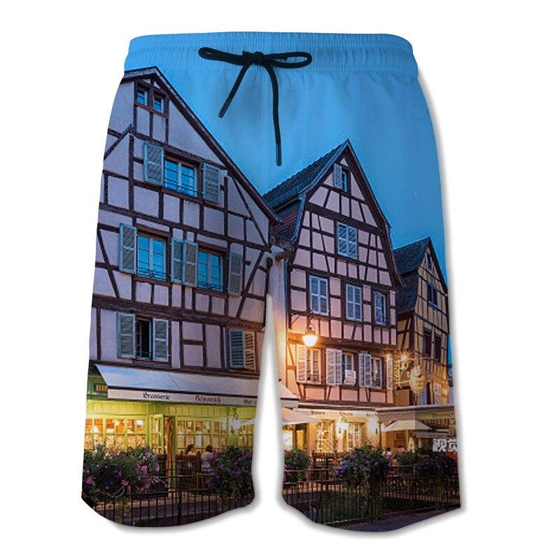 Pocket Quick Dry Swimming Shorts For Men Swimwear Man Swimsuit Swim Trunks 3D printing Summer Beach Wear