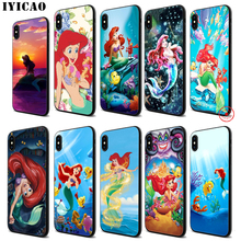 IYICAO Little princess Soft Black Silicone Case for iPhone 11 Pro Xr Xs Max X or 10 8 7 6 6S Plus 5 5S SE