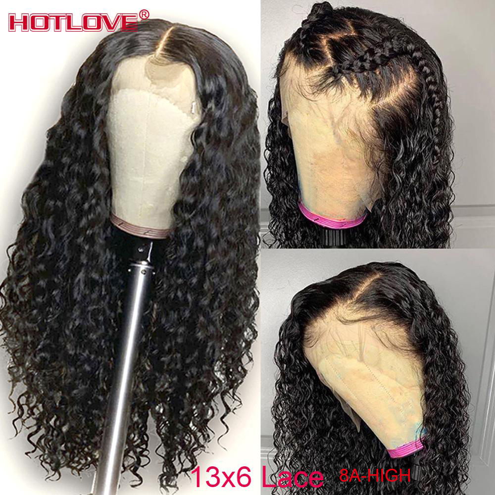 Brazilian Kinky Curly Wigs 13x6 Lace Front Human Hair Wigs For Woman Lace Front Hair Wigs Pre Plucked With Baby Hair Remy Hair