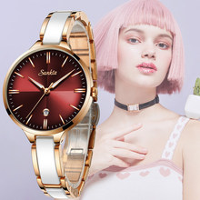 SUNKTA New Rose Gold Watch Women Quartz Watches Ladies Top Brand Luxury Female Wrist Watch Girl Clock Wife gift Zegarek Damski(China)