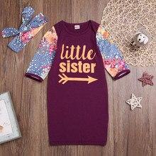 Летняя детская одежда для сна; Пижама с короткими рукавами и принтом букв для маленьких девочек; комплект с повязкой на голову; Повседневная Удобная одежда;# SA