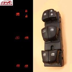 7 led wysokiej jakości przełącznik okna głównego zasilania dla Nissan Qashqai j11 j10/Altima/Sylphy/Tiida/x-trail Auto przełącznik sterowania okna