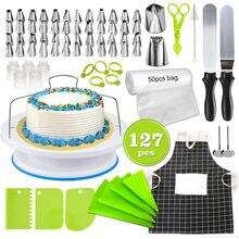 Transhome-ensemble de douilles de pâtisserie 127 pièces/ensemble, sac de pâtisserie, convertisseur, outils de cuisson, pointes de décoration de gâteaux, 2019