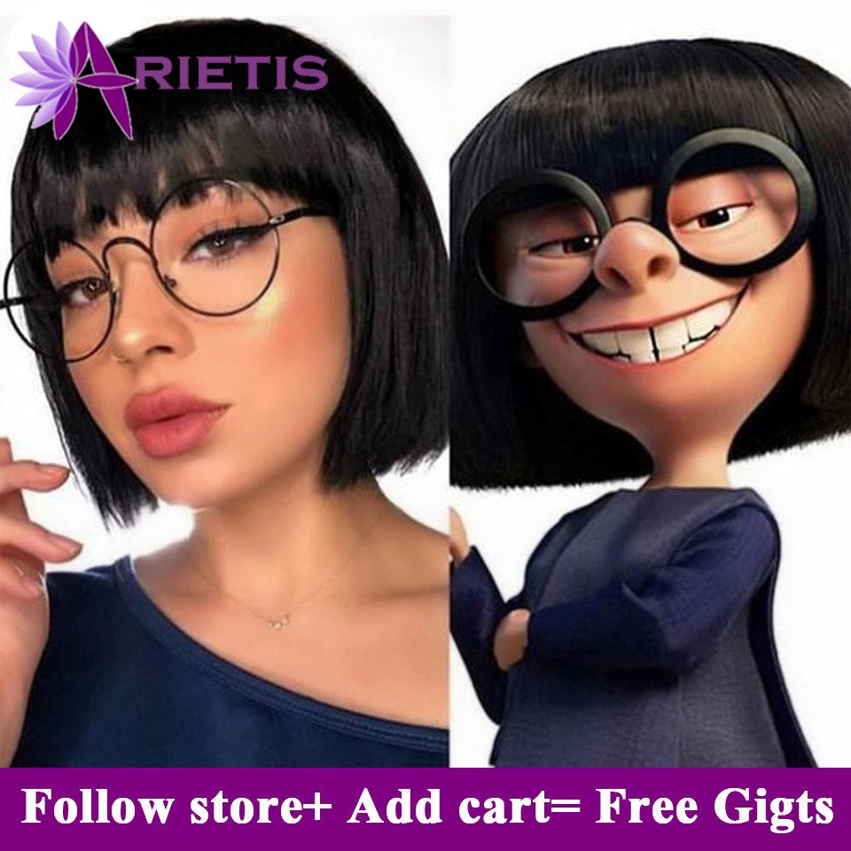 Human Hair Wigs Bob Wig Short Human Hair Wigs With Bangs For Black Women Natural Color Straight Bang Wig Fast Shipping Wholesale