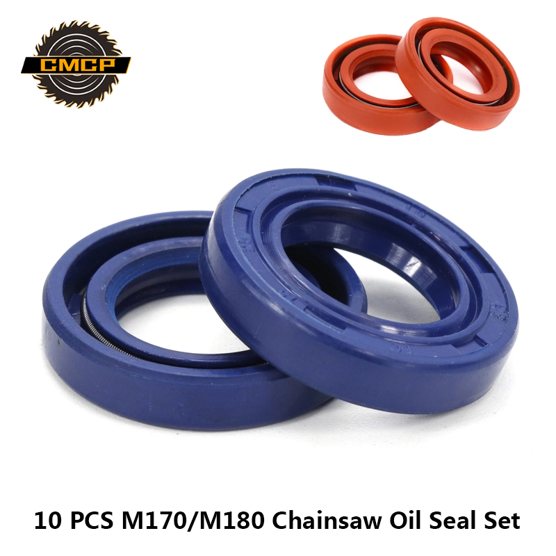 10pcs 15x25x5mm Chainsaw Oil Seal Fit For STIHL MS180 MS170 170 180 Chainsaw Spare Parts Graden Tool Accessories Oil Seal Ring