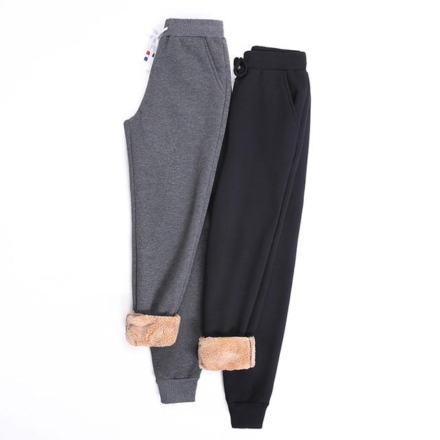 Women Winter Thick Lambskin Cashmere Pants Warm Female Casual Cotton Pants Loose Harlan Long Trousers Plus Size S-5XL 3XL 4XL 6