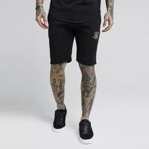 Pantalones cortos de algodón de verano para hombre Sik Silk Kanye West Fitness culturismo Casual Joggers entrenamiento marca pantalones cortos deportivos pantalones de chándal