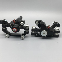 Mountain Bike Bicycle Mechanical Disc Brake Front & Rear Set W/ 60mm Rotors