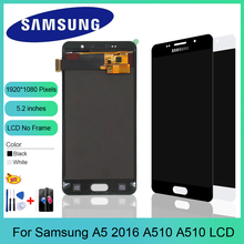 AAA+ Quality LCD for Samsung A5 2016 LCD Display A510 A510F A510M SM-A510F Touch Screen Digitizer LCD Assembly Replacement a510f display for samsung galaxy a5 2016 a5100 a510 a510f a510m sm a510f display touch screen digitizer assembly a510 lcd repair
