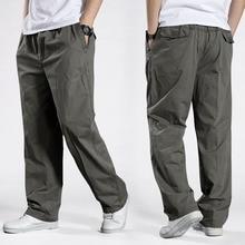 Мужские шаровары, тактические штаны 2020, провисающие хлопковые брюки, мужские брюки размера плюс, спортивные брюки, мужские повседневные брюки для пробежек 6XL