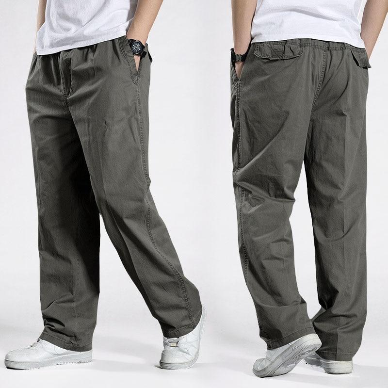 Men Harem Tactical Pants 2020 Sagging Cotton Pants Men Trousers Plus Size Sporting Pant Mens Joggers Casual Pants 6XL