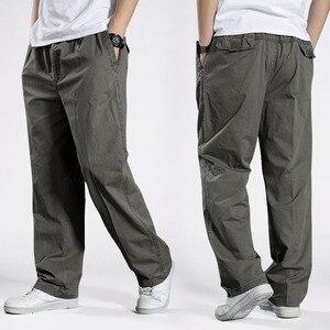 Image 1 - Men Harem tactical Pants 2020 Sagging cotton pants men Trousers plus size sporting Pant Mens Joggers Casual pants 6XL