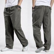 Pantalones tácticos bombachos para hombre, ropa de algodón, holgada, deportiva, de talla grande, informal, 6XL, 2020