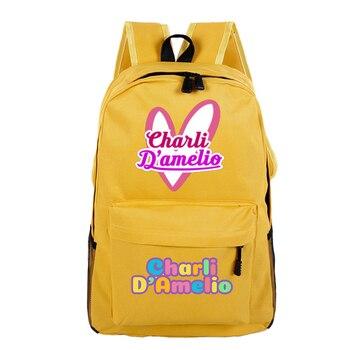 School Bags for Teenage Girls Charli Damelio Backpack Women Mochilas Escolares Bookbag Laptop Back Pack Men Kawaii Backpack Kids 12