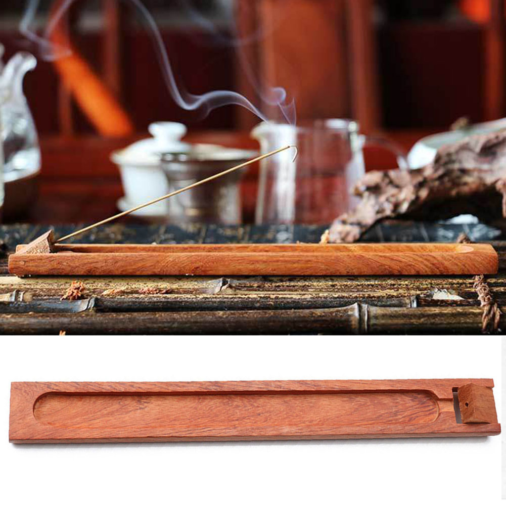 Gift Stick Base Aromatherapy Wooden Retro Style Small Decorative Home Pressure Relief Burner Incense Holder Teahouse Office Spa