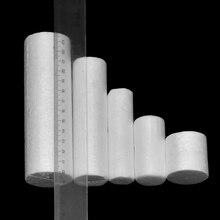 10 Pcs White Cylinder Shape Polystyrene Foam Oraments Diy Handmade