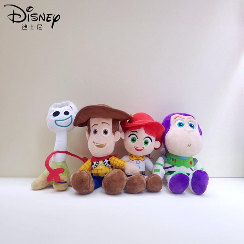 Disney Buzz Lightyear Toy Story 4 Woody BO PEEP Plush Toys Stuffed Christmas Birthday Toys for Children Kids Girls