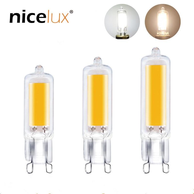 COB Chip G9 AC 110V 220V LED Lamp Bulb Dimmable 3w 5w Glass Tube Light Bulb Replace Halogen Chandelier Lighting 300LM 500LM