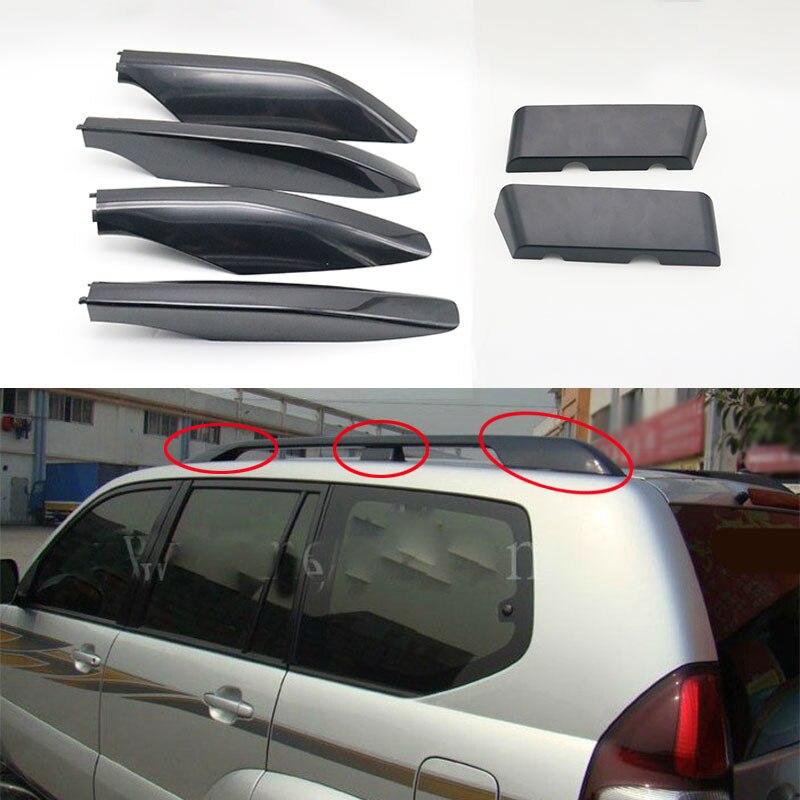 1 шт. черный багажник на крышу крыша бар крыша конец корпуса для Toyota Land Cruiser Prado Fj120 2003 2004 2005 2006 2007 2008 2009