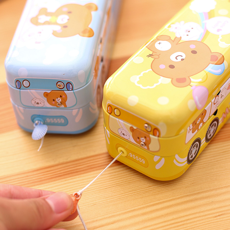 Lovely Pencil Box For Children's Pencil Box With Large Capacity Creative Iron Multifunctional Pencil Box For Boys And Girls
